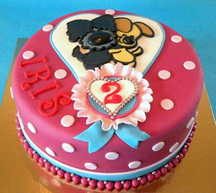Woezel en pip meisjes verjaardag taart. Lief en schattig
