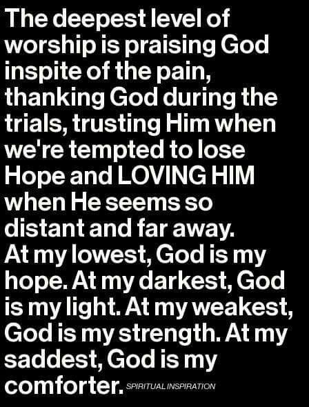 God is the creator, the highest. Everything is working together for HIS plan. Hold on and trust, no matter what! Goodness and righteous will win over the darkside! Stay true!