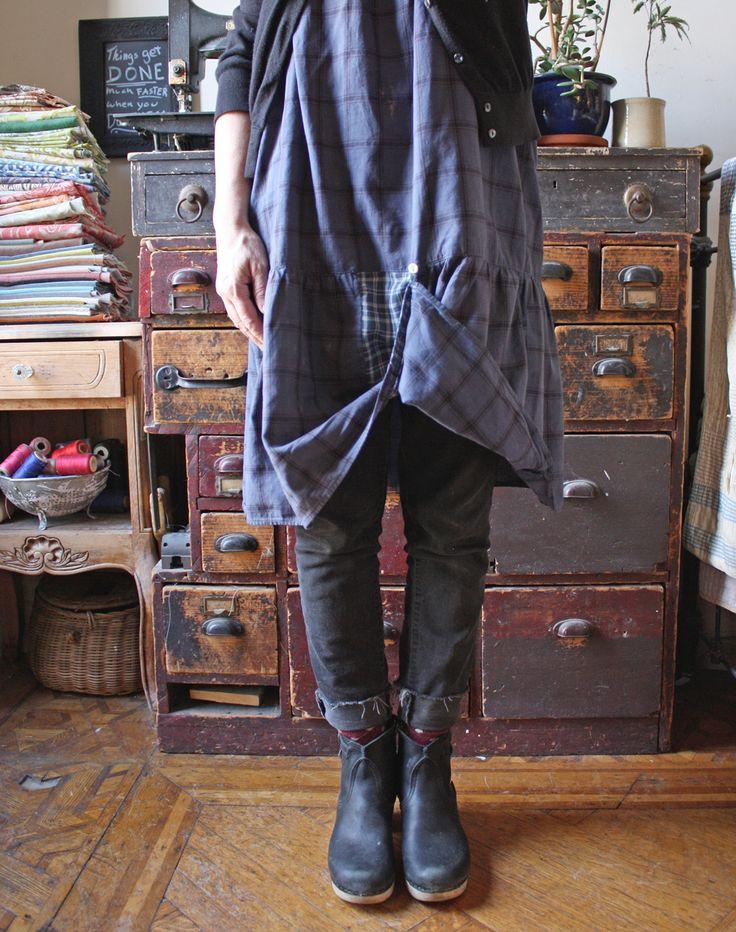 dress mend - fancy front bustle