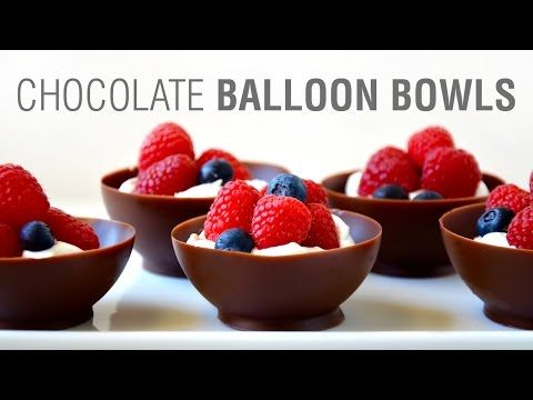 Just a Taste   Video: Chocolate Balloon Bowls