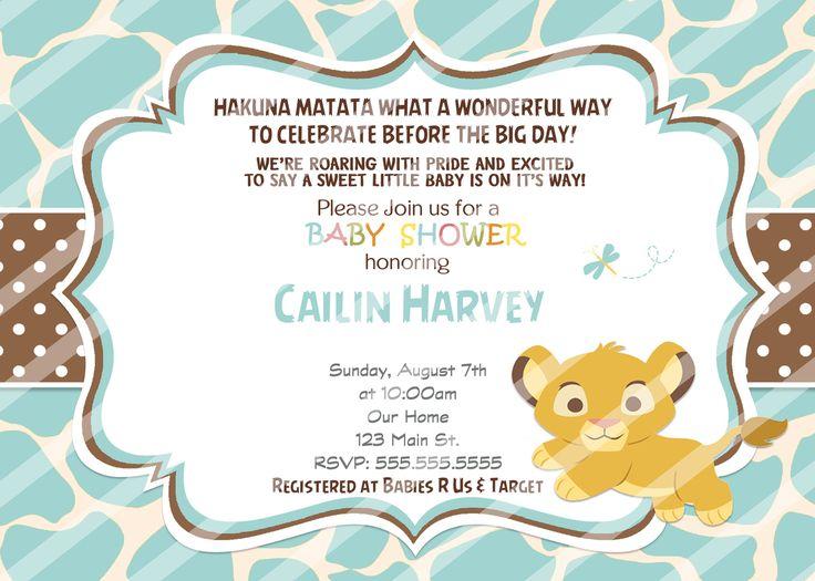 Superior Baby Simba Baby Shower Invitations Blue