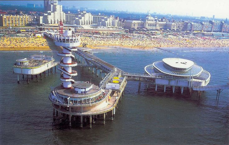 Scheveningen, the beach at den Haag--when Miles was 2 we were surprised by the Smurf festival here