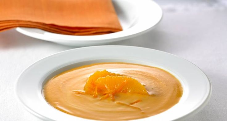 Crema de zanahorias al perfume de naranja