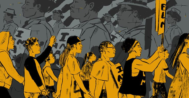 Queer women of color lead the Black Lives Matter movement. They can offer the NAACP a radical new direction. (Illustration: K. L. Ricks) http://www.nytimes.com/2017/05/30/opinion/melissa-harris-perry-naacp.html?smid=pi-nytimes&smtyp=cur
