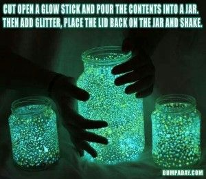 Fairy Jars ~ not just for Halloween, but also Summer parties, Christmas, New Year's Eve, my birthday ;)