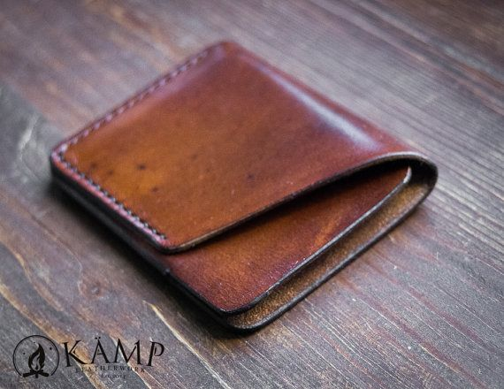 Leather slim wallet / credit card holder от KampLeatherwork