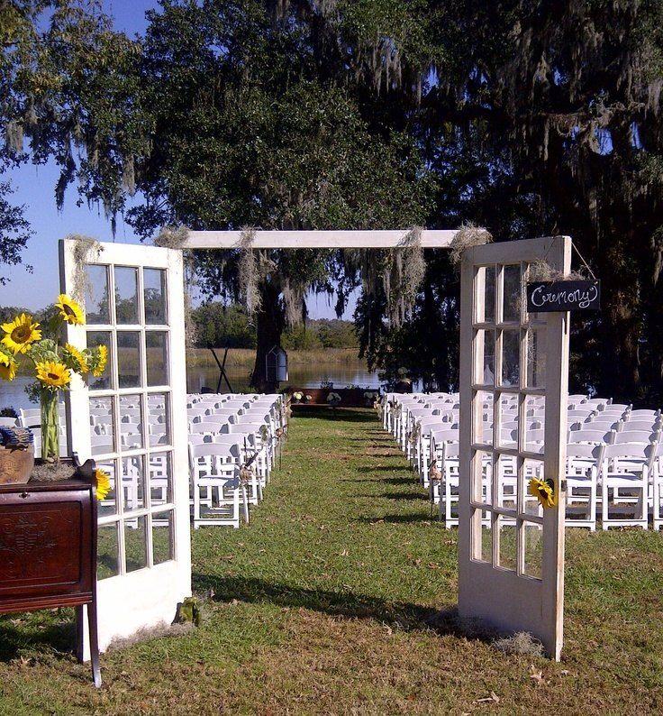 Outdoor Unique Wedding Ideas: 25+ Best Ideas About Outdoor Wedding Doors On Pinterest