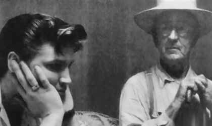RARE PHOTO: Elvis with His Paternal Grandfather - Jessie Dee Presley. Born in 1896, Elvis' Grandfather Jessie D Presley was often regarded as the 'bad apple' of his family- and described as being 'mean as hell' .     Elvis supposedly had little connection with his Grandfather. This may not be surprising since the wife he divorced, Minnie Mae, lived with Elvis at Graceland. She would go on to outlive both her son Vernon, as well as her grandson Elvis.