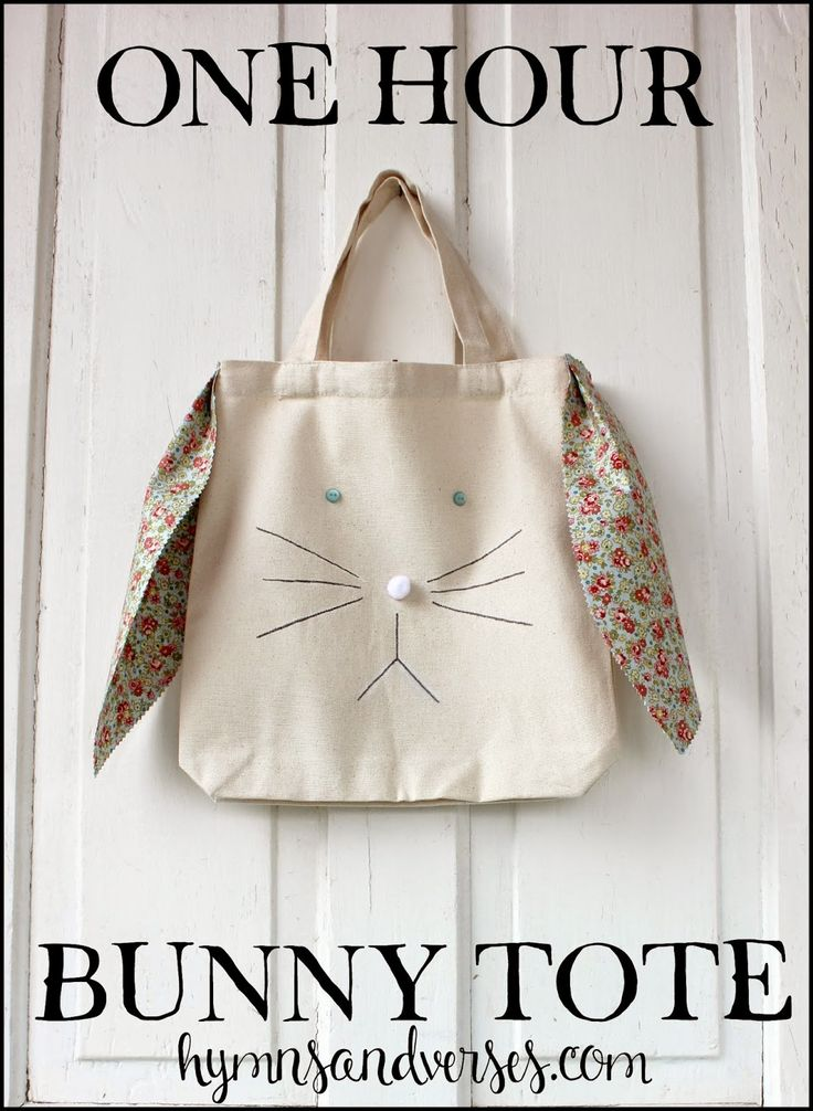 One Hour Easter Bunny Tote