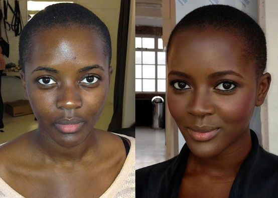 I think this is the best exemple of makeup can enhance - not transform - a girl face. Se was beautiful before, just got even better!