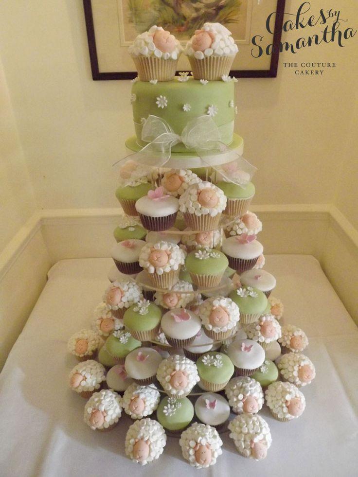 Fun wedding or birthday cake for a sheep farmer!