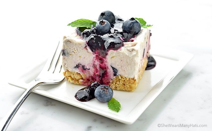 Delightful Frozen Blueberry Squares are a refreshing treat for summer entertaining and can easily be prepared ahead of time.