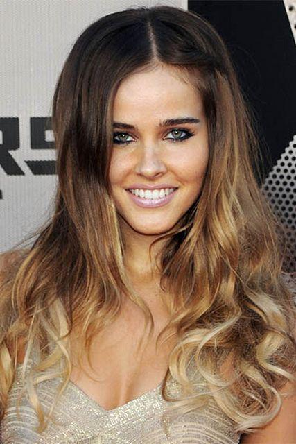 Isabel Lucas ombre hair