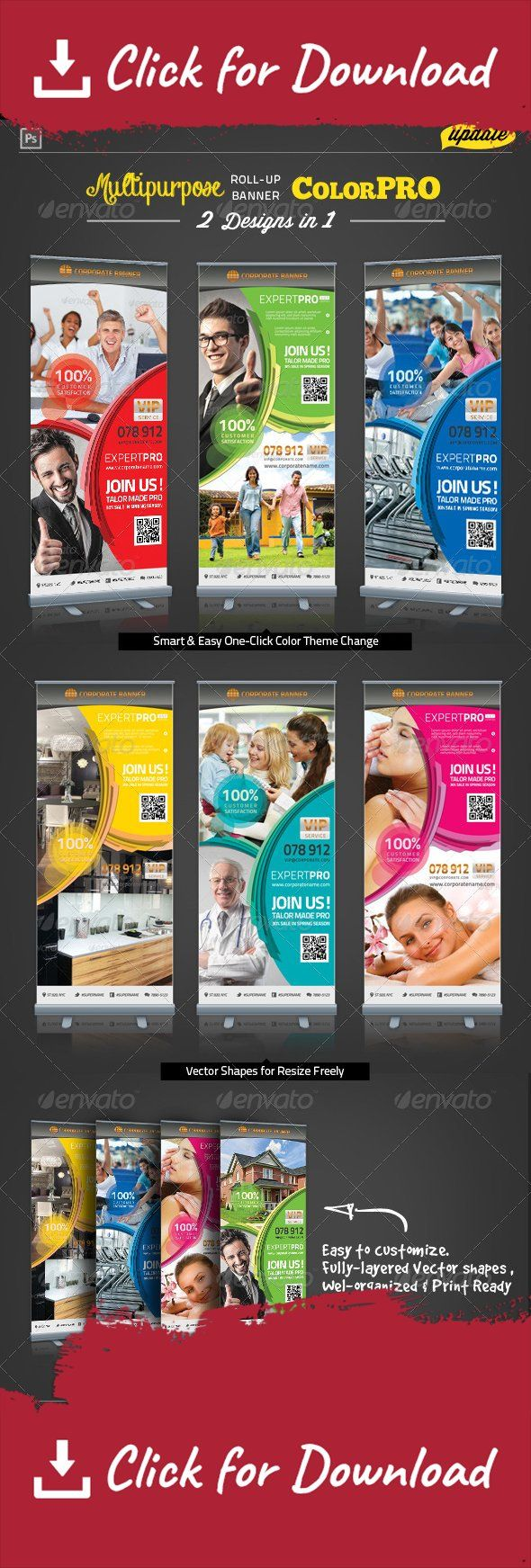agent, auto, automotive, baby, banner, beauty, car, children, club, cooking, dental clinic, dentist, education, fitness, furniture, gym, house, kid, kitchen, massage, outdoor, real estate, roll-up, salon, school, social, spa, template, training, university [ Corporate Roll-up Banner – Expert Pro]   30×70 in + 2.0in bleed.  100DPI, CMYK Print Ready Easy to customize and Multiple Color Themes Incl.  Excellent for your multipurpose corporate usage. Updated on 22 Jan,2014  Adding a n...