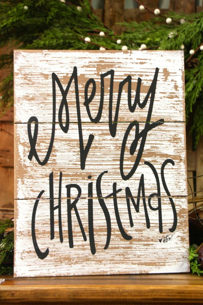 Merry Christmas Pallet Box Sign
