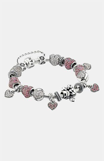 Lily Jewelry Pavé Open My Heart Pink CZ Clip 925 Sterling Silver Bead Fits Pandora Charm Bracelet jCT51kZ