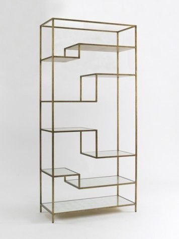 Mansfield Etagere So simple and beautiful.  I'd love to learn how to work metal someday.