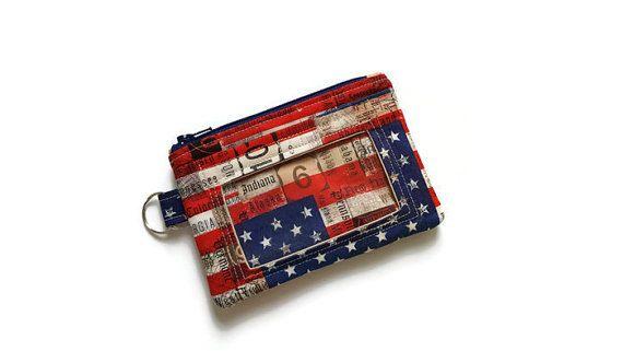 American Flag ID Wallet / Keychain ID by BonnieCustomCreation