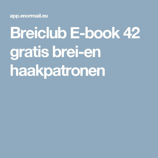 Breiclub E-book 42 gratis brei-en haakpatronen