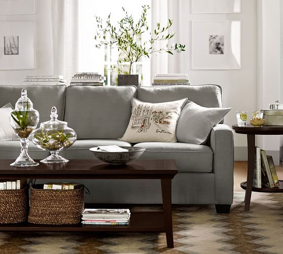 Buchanan Square Arm Upholstered Sofa | Pottery Barn