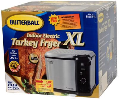 Chance to Win a Butterball Indoor Electric Turkey Fryer XL. 3 easy steps to the best turkey you've ever tasted. Step 1 - Inject up to 16 oz of Butterball...
