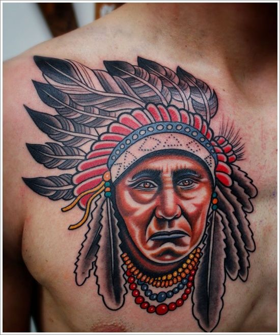1000 ideas about indian chief tattoo on pinterest indian skull indian head tattoo and red. Black Bedroom Furniture Sets. Home Design Ideas