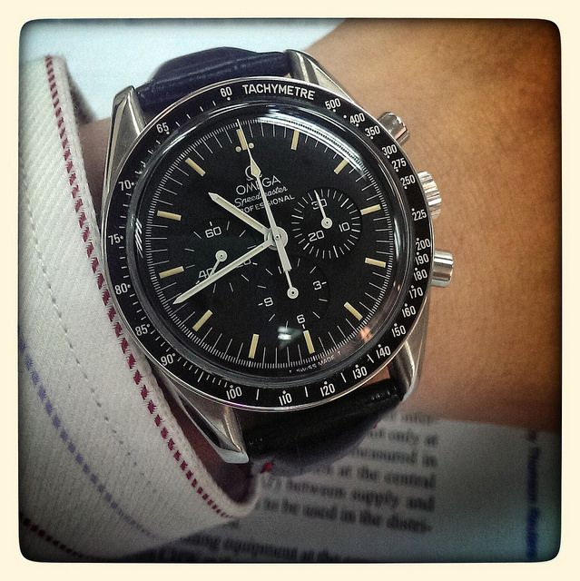 Omega Speedmaster Professional with patina dial.