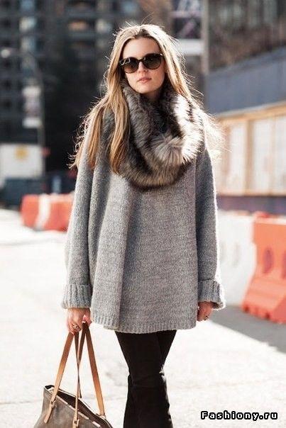 Утепляемся! Обзор. (Свитера, кардиганы, пальто+аксессуары и обувь) / свитер на одно плечо