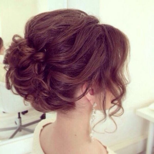 Wedding prom updo, hairstyles for long hair - YouTube