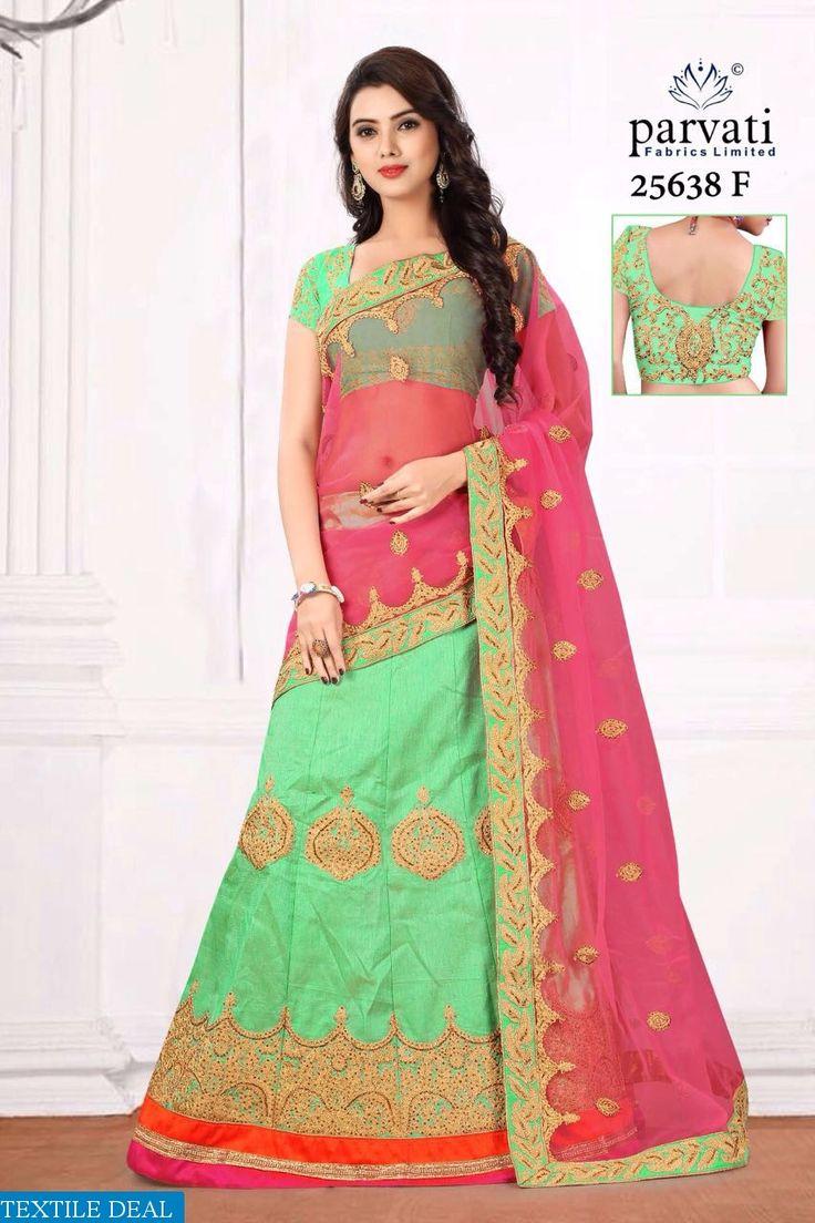 Shop Now Parvati Fashions Exclusive Designer Lehenga Choli Collection online at @Textiledeals