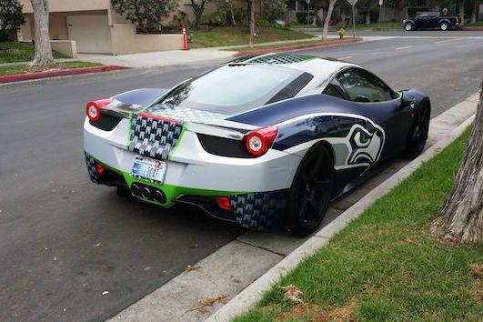 Seattle Superfan Drives Customized Seahawks Ferrari 458 Italia   Bleacher Report