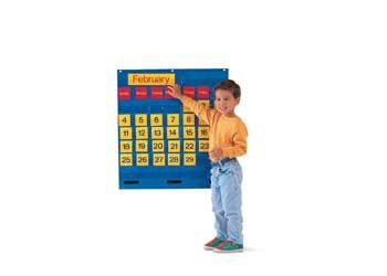 Child Education Catalogue: Monthly Calendar Pocket Chart