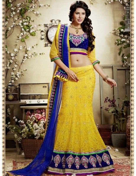 Bharat plaza gives you a complete outlook on the latest bridal lehenga.Awesome Yellow Lehenga Choli. http://www.bharatplaza.com/women/lehengas.html