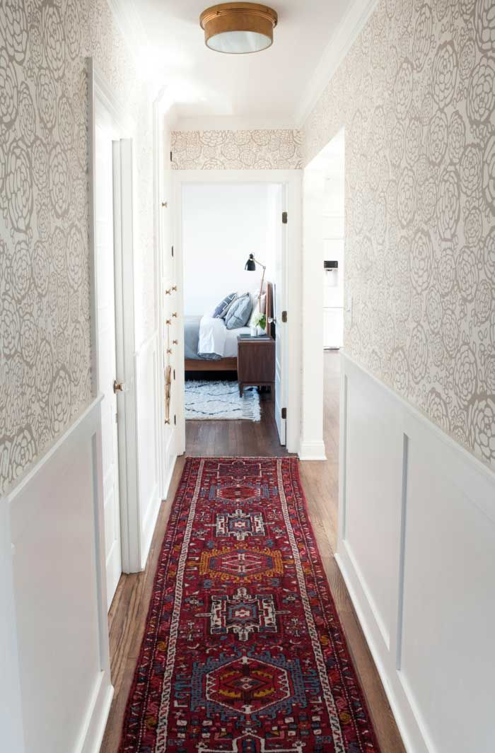 a great vintage runner rug in the hallway