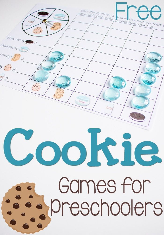 Practice counting, sorting, patterns, matching and graphing with this free printable pack of cookie games for preschoolers! Pair it with a snack of cookies & milk and you have some math no preschooler will resist!