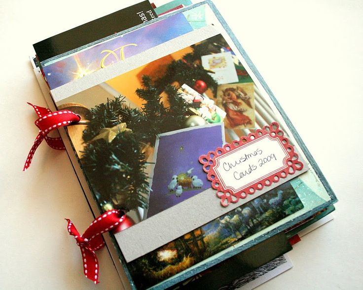 Christmas Card book (also great idea for special occasion cards, ie wedding, showers etc)