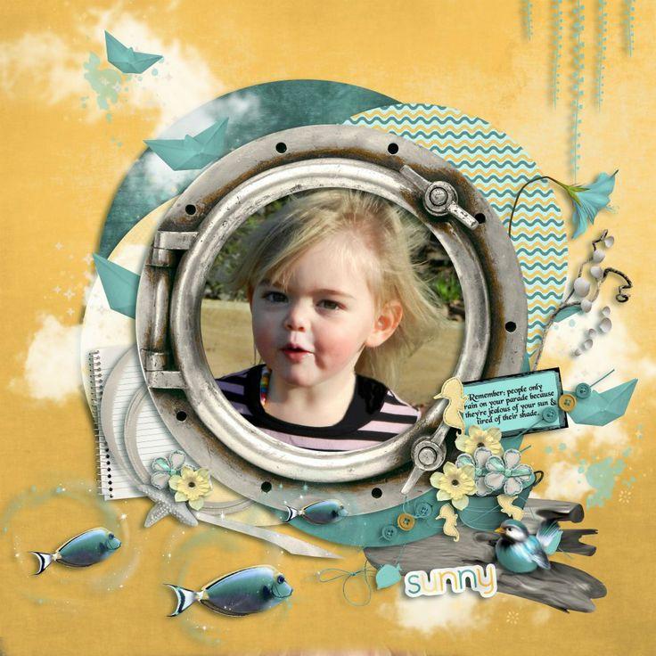 Sienna. Kit is Ocean Spray by Mariscrap