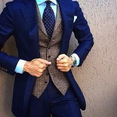 [ $22 OFF ] Blue Slim Fit Men Suit Costume Homme Formal Business Mens Blazer Suit Mens Suits Wedding Groom(Jacket+Pants) #menssuitsfit #slimfitsuits