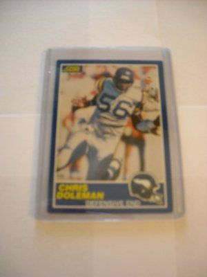 Chris Doleman Minnesota Vikings (Football Card) 1989 Score #36 by Score. $0.50. This is a collectible trading card.. Great for any Chris Doleman fan. Sport: Football. Great for any Minnesota Vikings fan. 1989 Score #36 - Chris Doleman