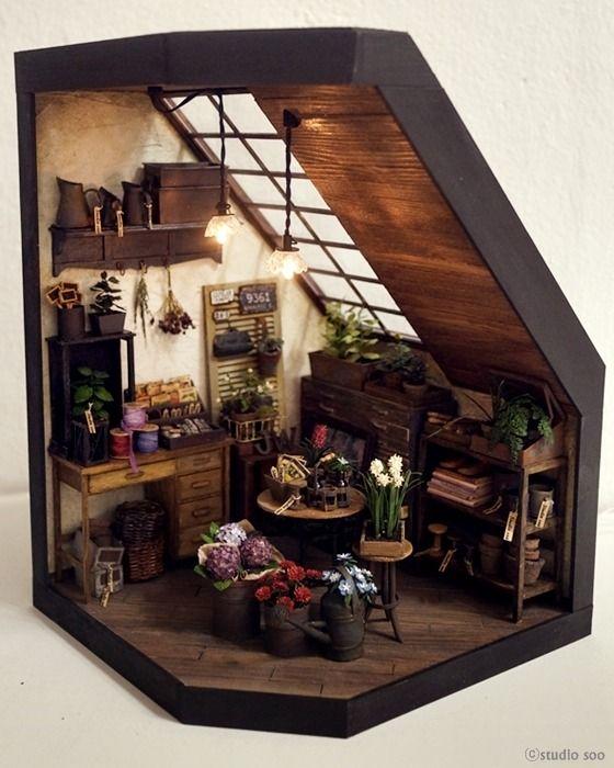 Dollhouse Miniature Roombox Sitting Room: Best 20+ Miniature Ideas On Pinterest