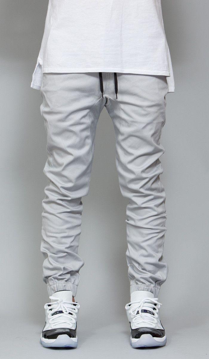 Grey Drop Crotch Jogger
