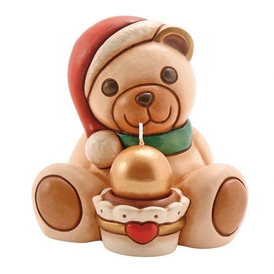 Teddy con cupcake + candela - Thun