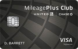 United | Mileage Plus Club card Black |Chase