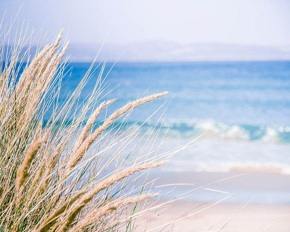 Beach photography nautical decor coastal prints ocean photography 8×10 24×36 fine art photography nature sand dunes periwinkle blue cream – Janet McCormick