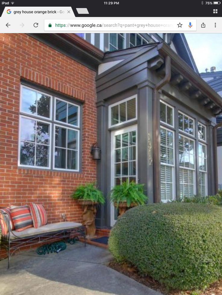 A White Door Pops Against Gray And Red Brick In A Historic Atlanta  Neighborhood. Brick Homes Can Use A Front Door Color Other Than Red, Says  Landscape ...