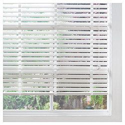 Venetian Blinds, white wood, 50mm. Preferably with curtains for cozy evenings.
