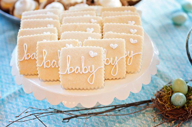 A beautiful birdy-inspired baby shower