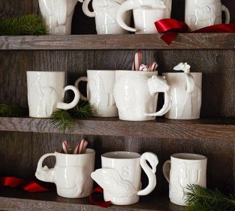 Sculpted Animal Alphabet Mug | Pottery Barn