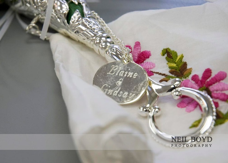 Bridal bouquet holder. Raleigh weddings.