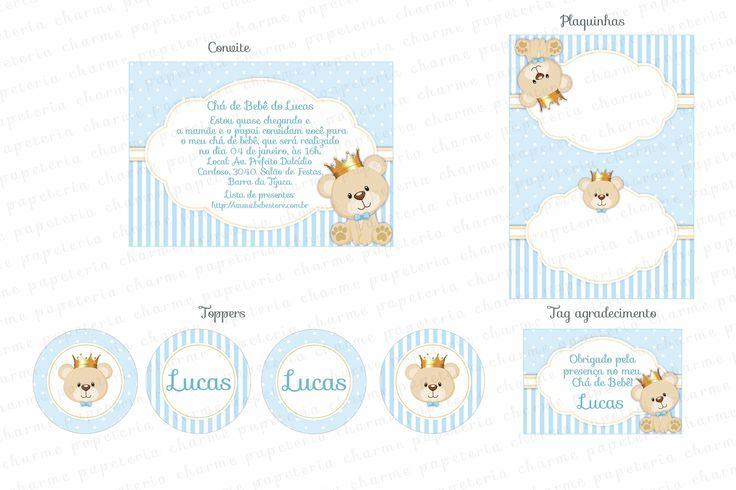 Kit Digital Ursinho Príncipe - Charme Papeteria